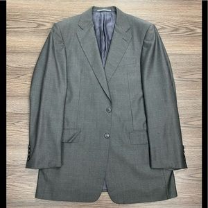 Hickey Freeman Grey Herringbone Sport Coat 38R